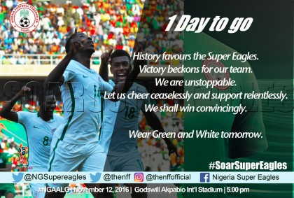 Super Eagles in Uyo