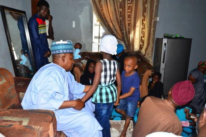 Shettima Presents N10m to Widow, 3 Children of Fallen Hero, Abu Ali
