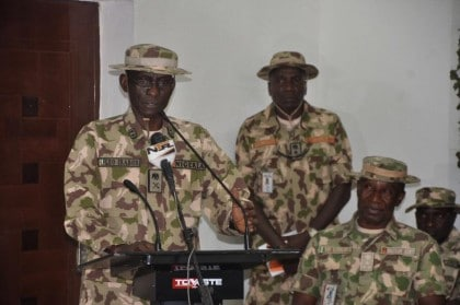 Text of Live Press Briefing of Operation Lafiya Dole By Maj. Gen. Irabor