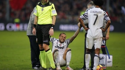 Dani Alves Suffers Broken Leg As Juventus Succumb To Genoa