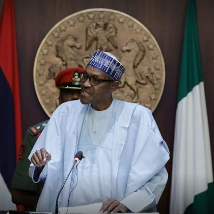 president-buhari parley with National Institute for policy and strategic studies