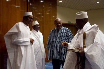 President Buhari Arrives Banjul To Hold Talks With Jammeh
