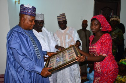Gov. Shettima Spends Boxing Day In Chibok With 21 Freed #SchoolGirls