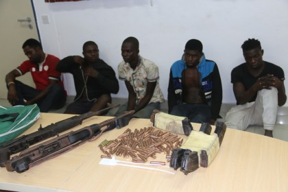 Parade of Suspects Aftermath of Rivers State Parliamentary Re-Run Elections