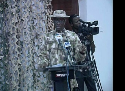 Full Text of Update On Operation Lafiya Dole By Maj. Gen. Irabor