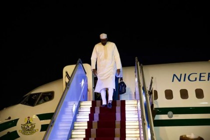 President Buhari Arrives Dakar, Senegal