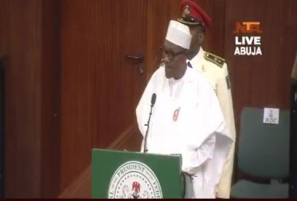 Full Speech of President Buhari at Joint session of NASS during 2017 Budget Presentation