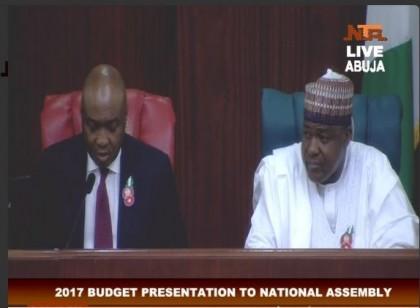 SP Saraki's Speech during President Buhari's 2017 Budget Presentation