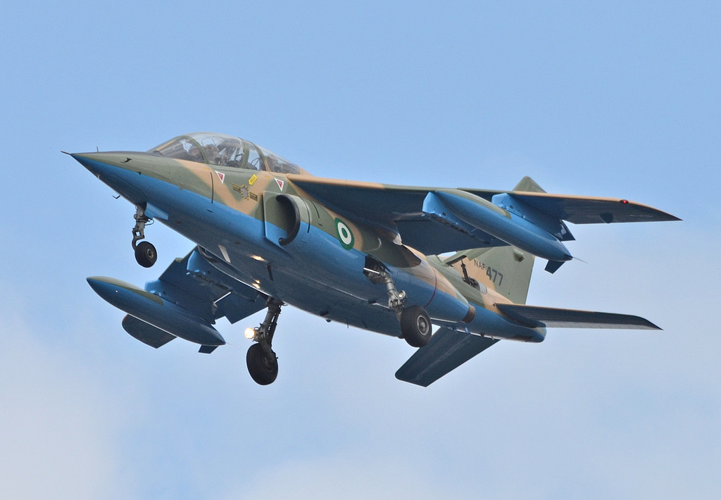 NAF jet destroys insurgents gun trucks at Borgozo in Borno