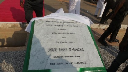 Governor Umaru Tanko Al-Makura Commissions and Flagged off Projects In The State
