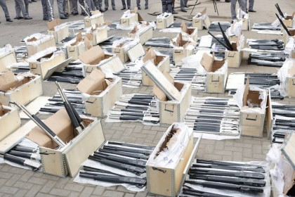 Nigeria Customs Intercept 661 Pump Action Riffles Concealed In A Container