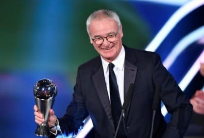 Leicester City Manager, Ranieri Crowned Coach Of The Year