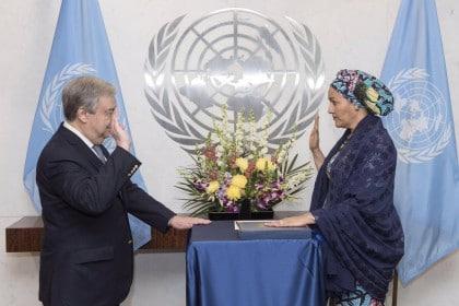 Amina Mohammed Sworn-In As UN Deputy Secretary General