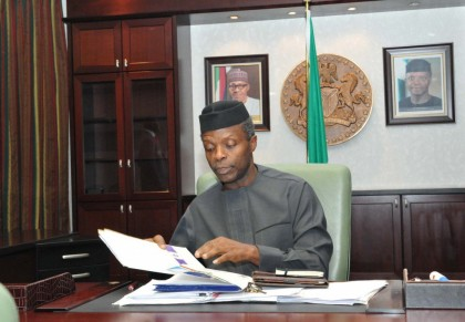 Acting President Prof. Yemi Osinbajo Assents 7 Bills Passed By The National Assembly