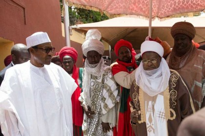 President Buhari Calls Emir Over Mother's Death