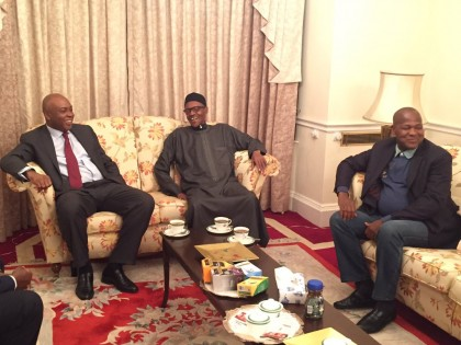Senate President, Speaker Visit President Buhari in London