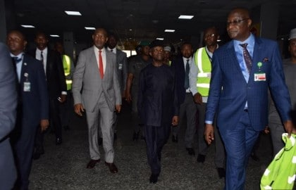 Ag. President Osinbajo Paid Unscheduled Visit To Lagos Airport, Uncovered Many Wrong Things