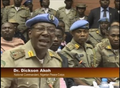 National Commandant, Dr Dickson Akoh Seeks Presidential Assent to Peace Corps Bill