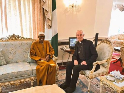 President Muhammadu Buhari Receives Archbishop of Canterbury Welby in London