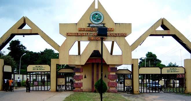 Michael Okpara University students protest against scrapping of non-agric courses