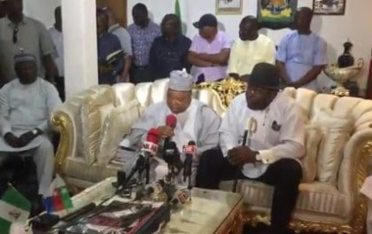 Sheriff, Makarfi Lead PDP Factions Sign Peace Deal