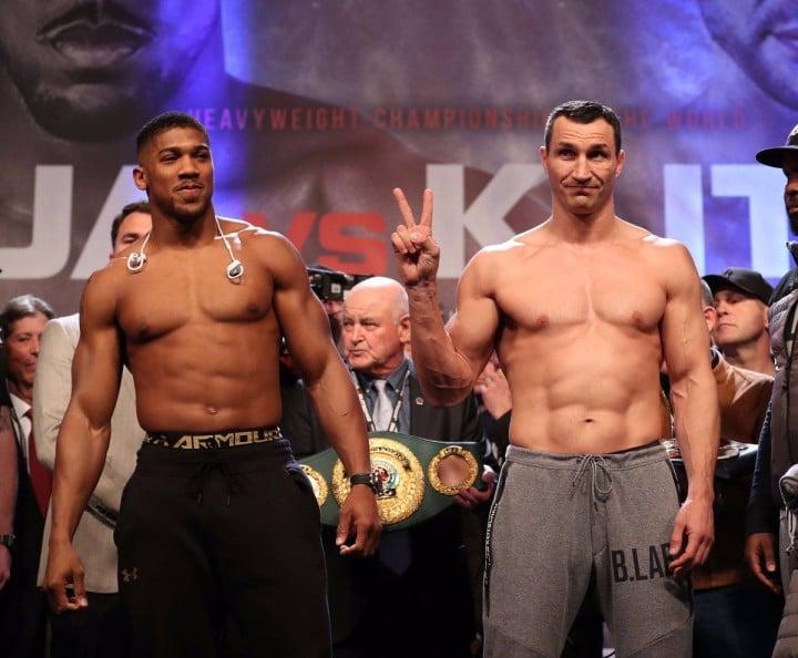 Nigerian World Heavyweight Boxing Champion Anthony Oluwafemi Joshua Defeats Wladamir Klitschko