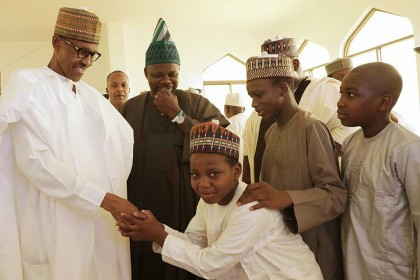 President Buhari At Villa Mosque As Imam Urged Muslims and Christians To Unite