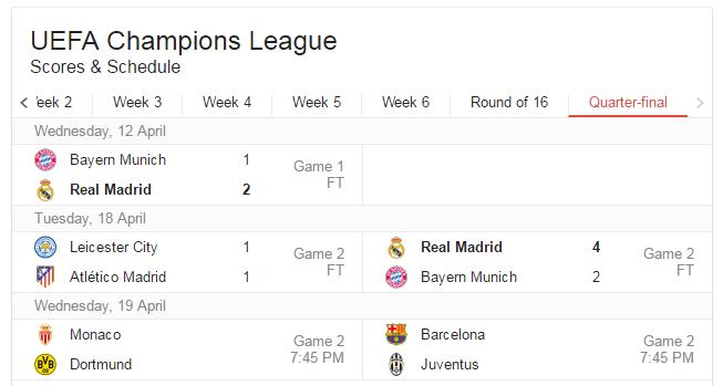 UCL-match-fixtures