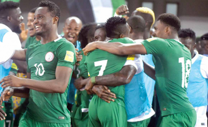 Super Eagles Move Up To 40th Spot In FIFA Rankings
