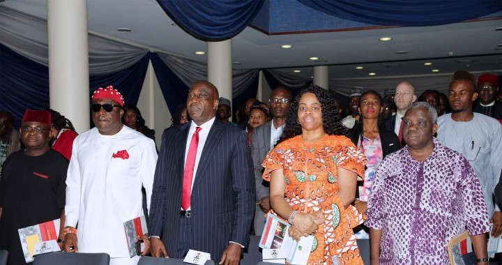 AG PRESIDENT OSINBAJO ATTENDS BIAFRA@50YRS AFTER. 5A. R- Cross Section of Guests at a forum on Biafra 50 Years after held at the Shehu Musa Yar'Adua Centre in Abuja. PHOTO; SUNDAY AGHAEZE. MAY 25 2017