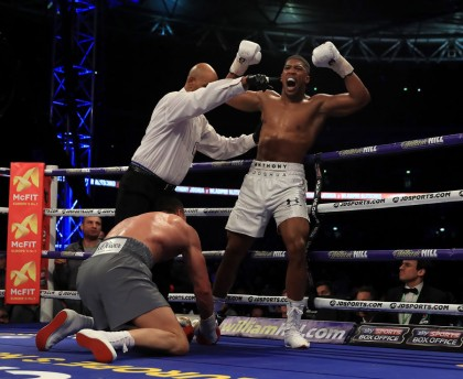 Anthony Joshua in position for all comers