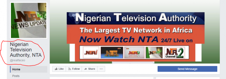 fake NTA facebook page