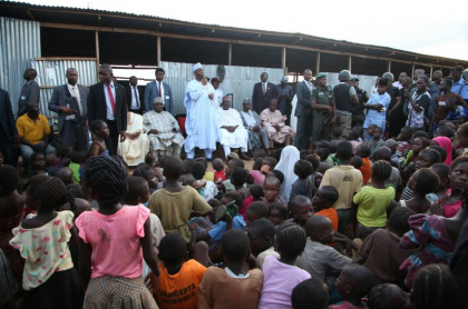 "Saraki Tells IDPs "" We Will Not Forget You"""