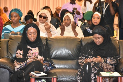 Aisha Buhari At Ramadan Lecture, Prays For Nation And The President