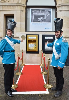 Worlds First ATM Machine