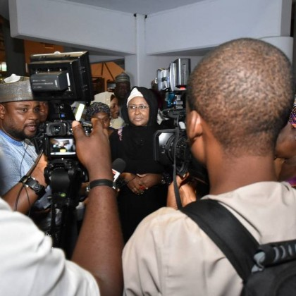 Wife of The President Brought Message From President Muhammadu Buhari