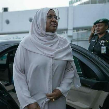 Aisha Buhari seen here leaving for London last week