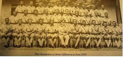 The First 30 Nigerian Officers In Nigeria's Military