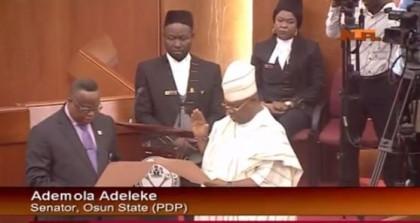 Senate swears in Adeleke