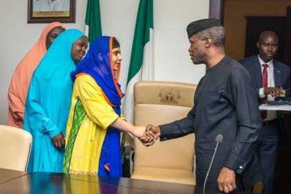 AgP Yemi Osinbajo Meets Festus Mogae, Cassa Muttem and Malala Yousafzai