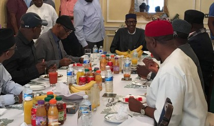 What We Discussed With President Buhari Today At Abuja House, Lonodon – Rochas