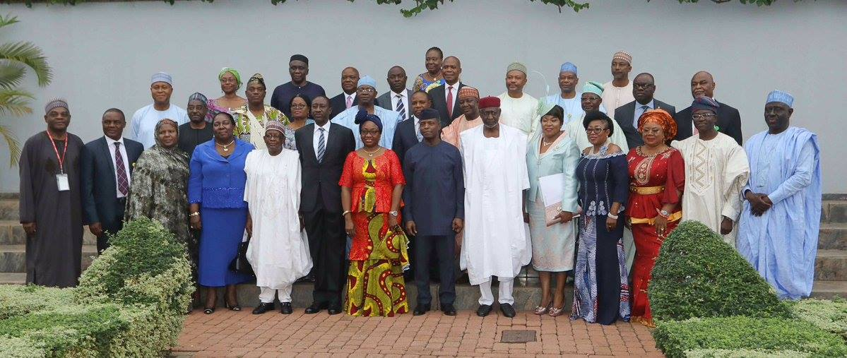 Acting President Osinbajo Assigns Portfolios To 2 Ministers, Swears In Federal Permanent Secretaries