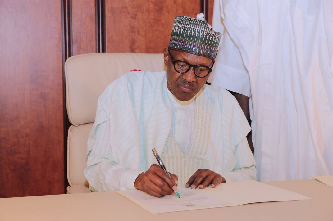 BREAKING: President Buhari Officially Resumes, Writes National Assembly