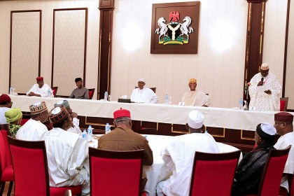President Buhari's Address To The Executives of APC and PDP At The State House Today