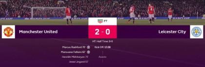 EPL: Man Utd beat Leicester City 2-0 to reclaim top spot