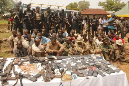 BREAKING: Police Parades 31 Suspected Notorious Kidnappers Terrorizing Abuja-Minna Abuja-Kaduna Road