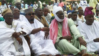 Gov Fayose Felicitates With Muslim At Eid-el-Kabir Prayer Ground