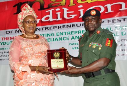 Mrs. Buhari Commends NYSC for Promoting Entrepreneurship Among Youths