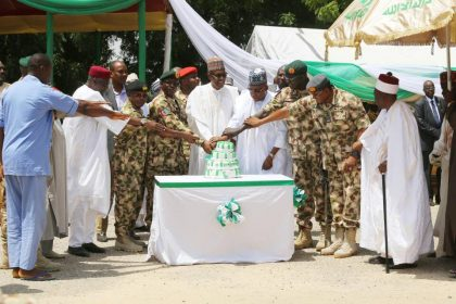 Full Speech of President Buhari, Celebrate #NigeriaAt57 Independence With Troops on Operation Lafiya Dole