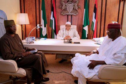 President Buhari Meets The New SGF Boss Mustapha
